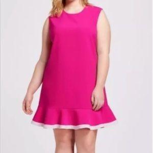 Victoria Beckham for Target Twill Ruffle Hem Dress